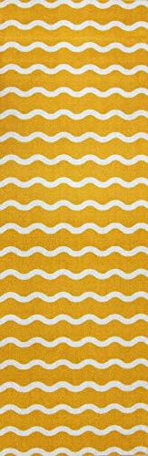 onloom Küchenläufer in graphischen & geometrischen Designs, robust, schadstoffgeprüft, Farbe:Gelb, Größe:50 x 150 cm