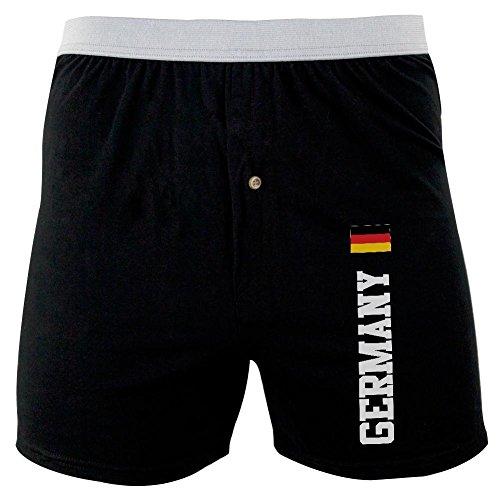 Oktoberfest Deutschland Fahne WM weich stricken Boxer schwarz MD (Stricken Boxer)