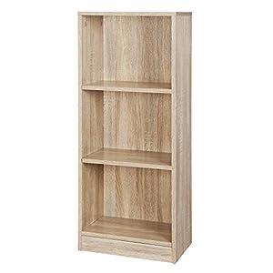VASAGLE Bücherregal mit 3 Fächer, verstellbare Einlegeböden, Weißes Regal, Aktenregal für Wohnzimmer, Kinderzimmer und…