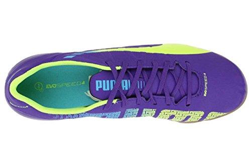 Puma Evospeed 4.3 It, Chaussures de sports en salle homme Bleu (lime)
