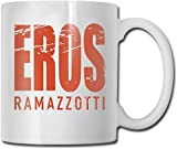 Store Eros Ramazzotti Glossy Ceramic Coffee Mug Tea Cup for Office and Home