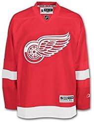 Reebok Premier Detroit Red Wings NHL Hockey Jersey Superior–rojo, small