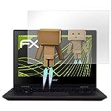 atFolix Bildschirmfolie kompatibel mit Acer TravelMate Spin B1 Spiegelfolie, Spiegeleffekt FX Schutzfolie