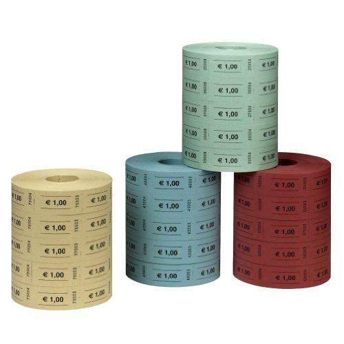 Herlitz 10733368 Wertmarken 1 Euro farbig Marken 1 Euro 5x1000 Abrisse