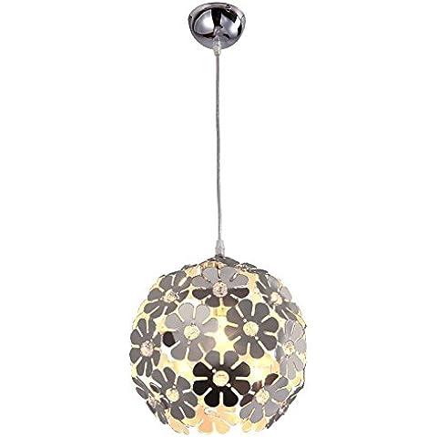 YUENLONG Il moderno ed elegante e un ristorante semplice lampadari camera da letto balcone corridoio girasole lampade di cristallo , argento, diametro 20cm