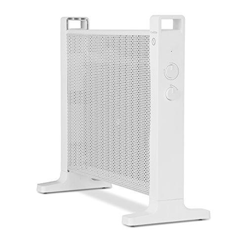 Klarstein HeatPalMica 15 - Wärmewellenheizung, Elektroheizung, Standheizung, 750 W oder 1500 W, ohne Gebläse, leiser Betrieb, stufenlose Temperaturregler, IP24: spritzwassergeschützt, weiß