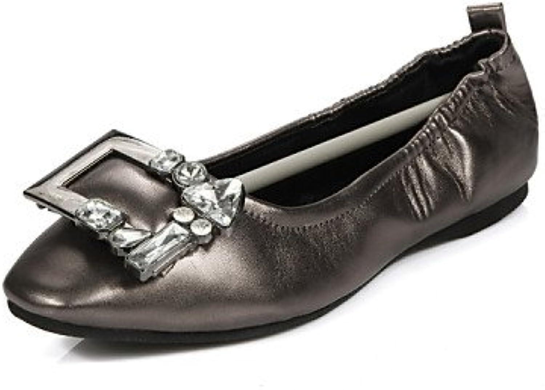 PDX/de zapatos de mujer talón plano gladiador/dedo del pie cuadrado pisos al aire libre/oficina y carrera/casual...