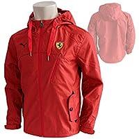 Puma Scuderia Ferrari F1 Classic Woven Jacke rot Windbreaker Regenjacke Kapuze
