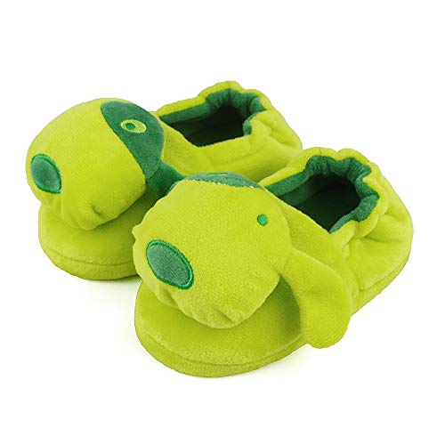 LACOFIA Kids Girls Anti-Slip Rubber Sole Shoes Children Winter Warm Animal Slippers