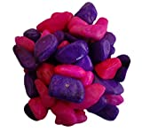 2kg Pink & Purple decorative stone For garden and Indoor, Outdoor Pebbles chips