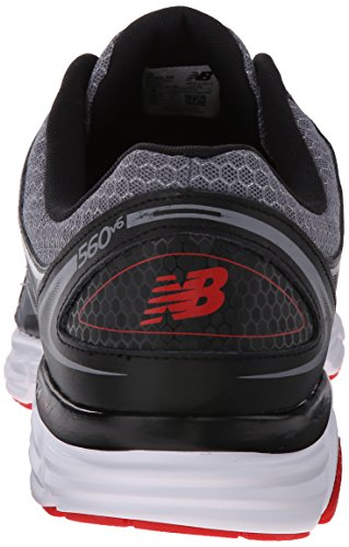 New Balance Men's M560V6 Running Shoe Grey/black/red