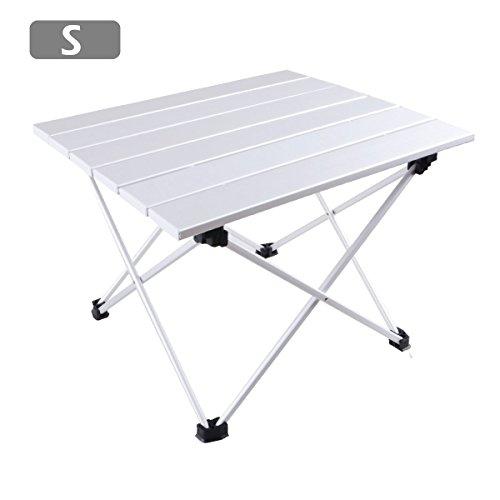 TRIWONDER Ultraligero de Aluminio Plegable Mesa de Camping Plegables Portátil Enrollable para...