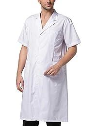 THEE Bata Médico Laboratorio Enfermera Sanitaria de Manga Corta Unisex
