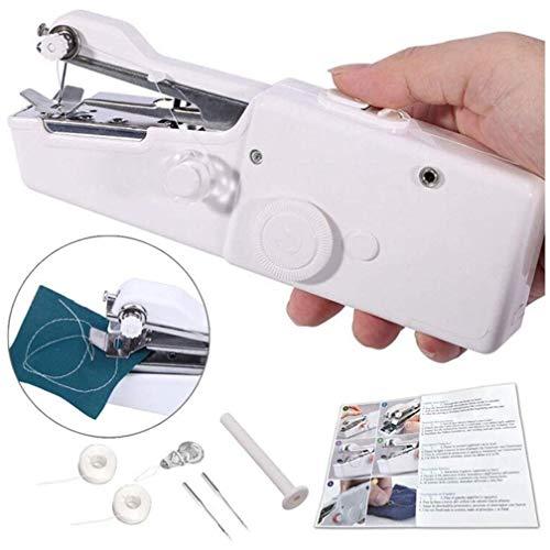CETECK Mini Máquina de Coser Portátil Herramienta Manual Portátil Herramienta de Puntada Rápida para Tela, Ropa o Tela de Niños (batería no incluida)