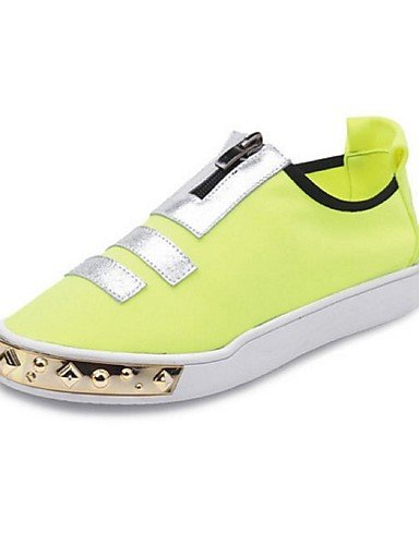 ZQ gyht Scarpe Donna - Mocassini - Tempo libero / Casual - Comoda / Punta arrotondata - Plateau - Tessuto - Nero / Blu / Giallo , yellow-us8 / eu39 / uk6 / cn39 , yellow-us8 / eu39 / uk6 / cn39 blue-us7.5 / eu38 / uk5.5 / cn38