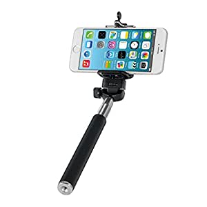 kwmobile universal selfie stick mit smartphone halter. Black Bedroom Furniture Sets. Home Design Ideas