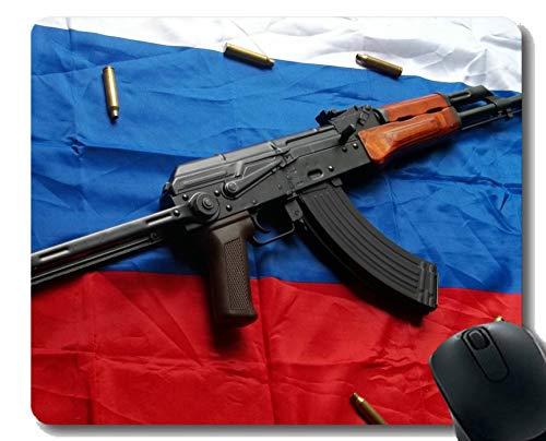 Yanteng Tappetino per Mouse Antiscivolo, AK-47 Pistola per Fucile d'assalto Mousepad