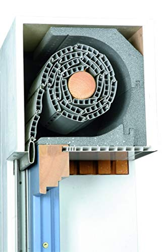 DiHa Rollladenkasten-Isolierung, Rollladenkasten Dämmung ROKA-ASS® 3-tlg. eckig, Stärke 28 mm (Verschlußdeckel 175 mm)