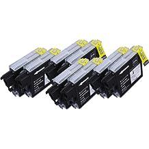 8 Multipack de alta capacidad Brother LC-1100 , LC-980 , LC-985 Cartuchos Compatibles 8 negro para Brother DCP-145C, DCP-163C, DCP-165C, DCP-167C, DCP-185C, DCP-195C, DCP-197C, DCP-365CN, DCP-373CW, DCP-375CW, DCP-377CW, DCP-383C, DCP-385C, DCP-387C, DCP-395CN, DCP-585CW, DCP-6690CW, DCP-J125, DCP-J140W, DCP-J315W, DCP-J515W, DCP-J715W, MFC-250C, MFC-255CW, MFC-257CW, MFC-290C, MFC-295CN, MFC-297C, MFC-490CW, MFC-5490CN, MFC-5890CN, MFC-5895CW, MFC-6490CW, MFC-6890CDW, MFC-790CW, MFC-795CW, MFC-990CW, MFC-J220, MFC-J265W, MFC-J410, MFC-J415W, MFC-J615W, MFC-J615W. Cartucho de tinta . LC-1100BK , LC-980BK , LC-985BK © 123 Cartucho