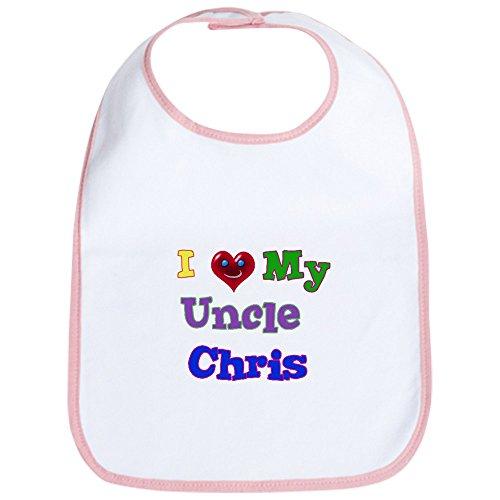 my Uncle Chris-Cute Stoff Baby Lätzchen, Toddler Lätzchen, Pink ()