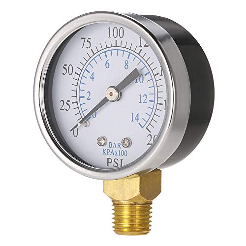Nukana 0 50 Mm 0~200 Psi ~ 14bar Pool Filter Wasserdruck Dial Hydraulische Manometer Meter Manometer 1/4