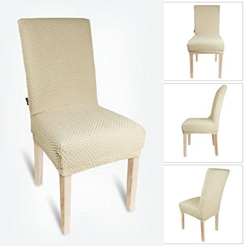 Coprisedie elasticizzato in tessuto auralum coprisedia scudo fodera per sedia taglia m beige - Coprisedia in tessuto ikea ...