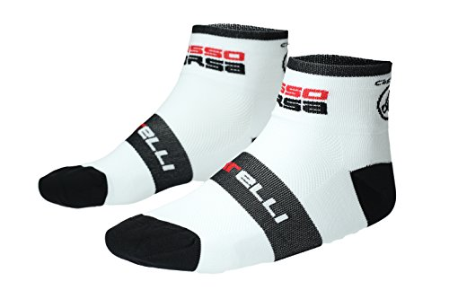 Castelli Socken ROSSO CORSA 6 Weiß Größe XXL