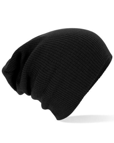 beechfield-bonnet-souple-taille-unique-noir-taille-unique
