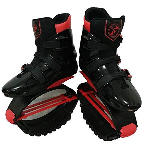 GYFY Vacuum Stretch Bouncing Schuhe Erwachsenen Fitness Raum Stelzenlauf Rebound Bouncing Schuhe,BlackRed,XL