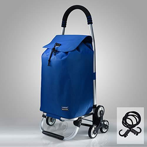 RTTgv Einkaufstrolleys Zusammenklappbare Einkaufswagen und Mobile Zubehörtasche Einkaufskorb tragbare Radverschönerung einfach im Obergeschoss (Farbe : A)