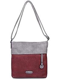 CASAdiNOVA Handtasche Damen - Umhängetasche, Schultertasche Schwarz - 25x26x5 cm