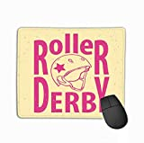 Gaming Mouse Pad Custom, Personality Desings Gaming Mouse Pad 11.81 X 9.84 inch Roller Derby Helmet Typography