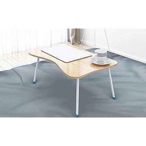 KHSKX Moda portatile tavolo pieghevole, tavolo multifunzione con letti, scrivania impermeabile dormitorio 60 * 40 * 29cm , b