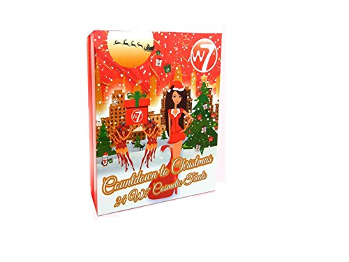 W7 24 Cosmetic Treats, Countdown To Christmas Advent Calendar NEW
