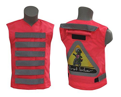 first biker: Hochwertige Fahrradlernweste mit Haltegriff und Kinderwarnweste in Einem (pink)