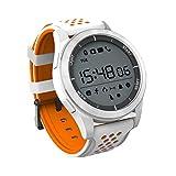 XMYL Hommes Les Sports Montre Connectée Femmes Étanche Smart Watch Lumineux Affichage,Orange