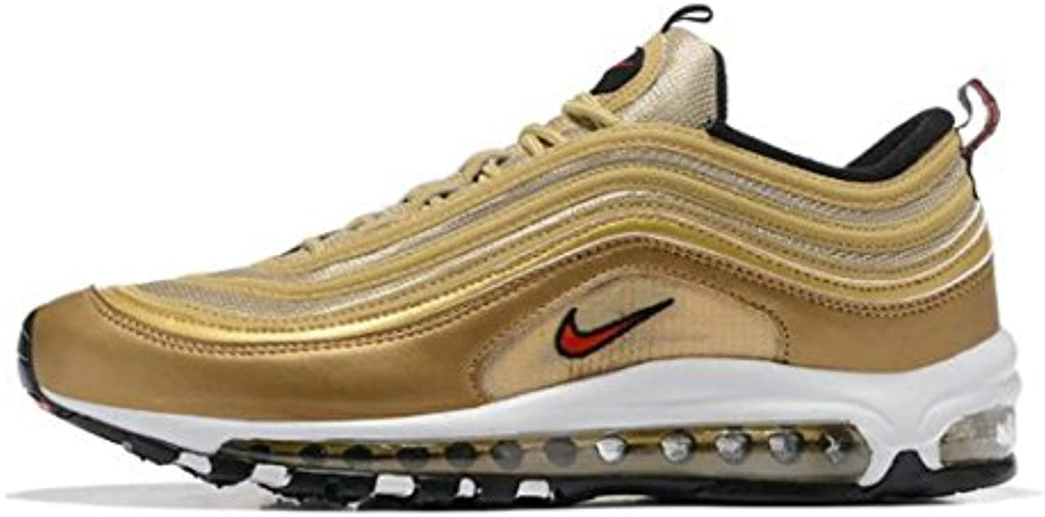 SalesMax Air Max 97 QS Metallic Gold Bullet 312641 700 Herren Damen Gymnastikschuhe