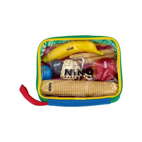 Nino Percussion NINOSET4 Percussion-Sortiment achtteilig mit bunter Designtasche