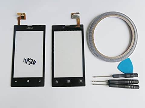 For Nokia Lumia 520 Display Touch Screen Digitizer Assembly Black+Tool&Double-sided tape