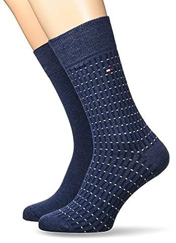 Tommy Hilfiger TH Men Antstreet Sock 2P, Chaussettes Homme, Blau (Jeans 356), 43-46 (lot de 2)