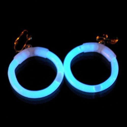 famoso marchio di stilisti buona vendita offerta speciale 1 paio di orecchini fluorescenti orecchini a cerchio bianco freddo con clip  e riutilizzabile