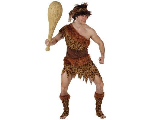 Steinzeitmenschen-Kostüm für Herren - M / L (Höhlenmenschen Kostüme)