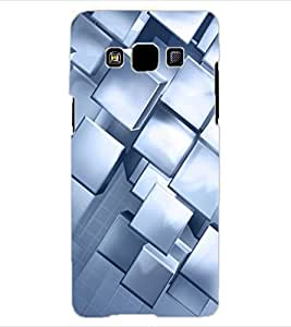 ColourCraft Beautiful Square Pattern Design Back Case Cover for SAMSUNG GALAXY A3