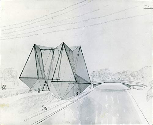 Fotomax Vintage Photo of A Preliminary Sketch Showing The Aviary. (Aviary Photo)