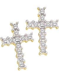 Amazon Fr Boucle D Oreille Homme Croix Diamant Bijoux