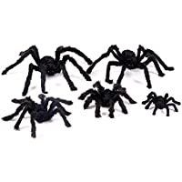 Juguete de peluche simulado: accesorios creativos de Halloween Araña falsa simulada para bares de casas encantadas Suministros decorativos Arañas de peluche de miedo Juguetes difíciles - Negro 30cm