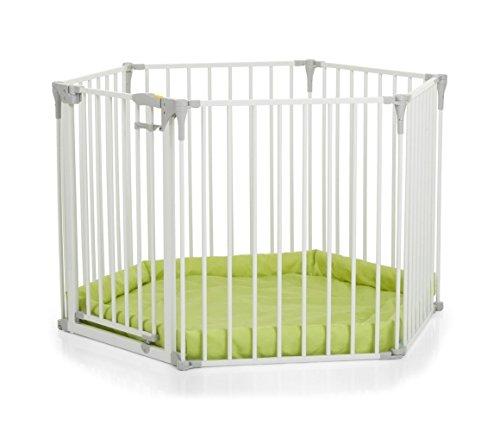 Hauck Baby Park Kinderschutzgitter, weiß, 366 x 115 x 75 cm