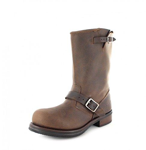Buffalo Boots 1808B Brown Bikerstiefel für Damen und Herren Braun Engineerstiefel, Groesse:48