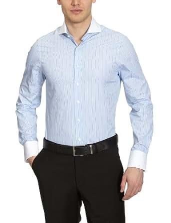 Arrow Herren Businesshemd Slim Fit, gestreift CL00211D91 / CLARIDGE SLIM FIT SC, Gr. 41, Blau (063 MEDIUM BLUE)