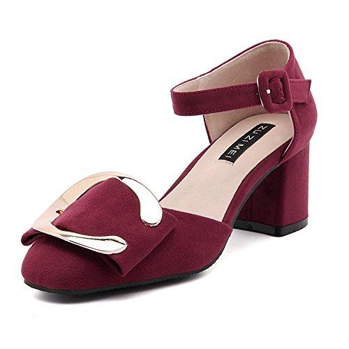 Shoemaker's heart traspirante sandali in pelle nuova moda estate All-Match parola fibbia Baotou fibbia in metallo Thirty-five